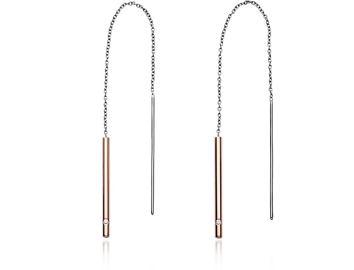 Elin Two-Tone Threader Earrings - Skagen