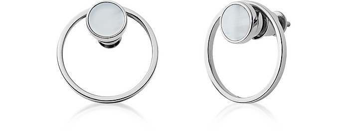 Agnethe Silver-Tone Mother-of-Pearl Earrings - Skagen