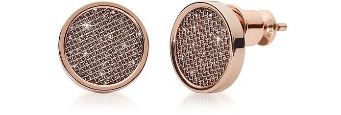 Merete Rose Tone Stud Earrings - Skagen