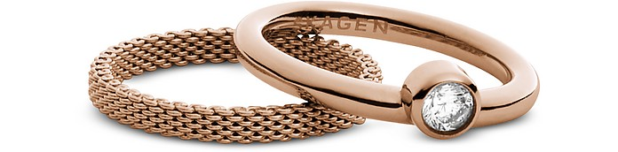 Rose Goldtone Stainless Steel Elin Women's Ring - Skagen