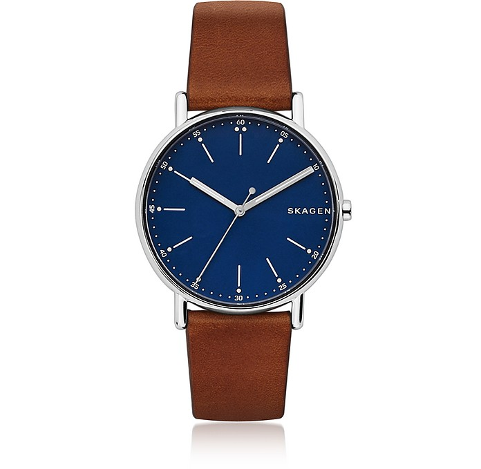 Signatur Brown Leather Men's Watch - Skagen