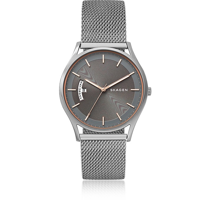Holst Steel-Mesh Day Date Men's Watch - Skagen