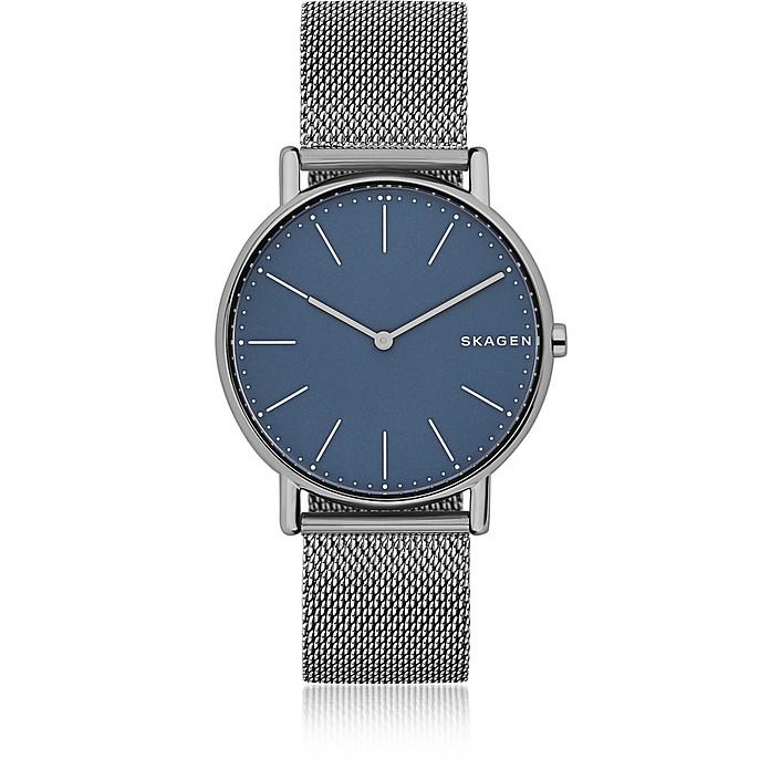 Signatur Slim Titanium and Steel-Mesh Men's Watch - Skagen