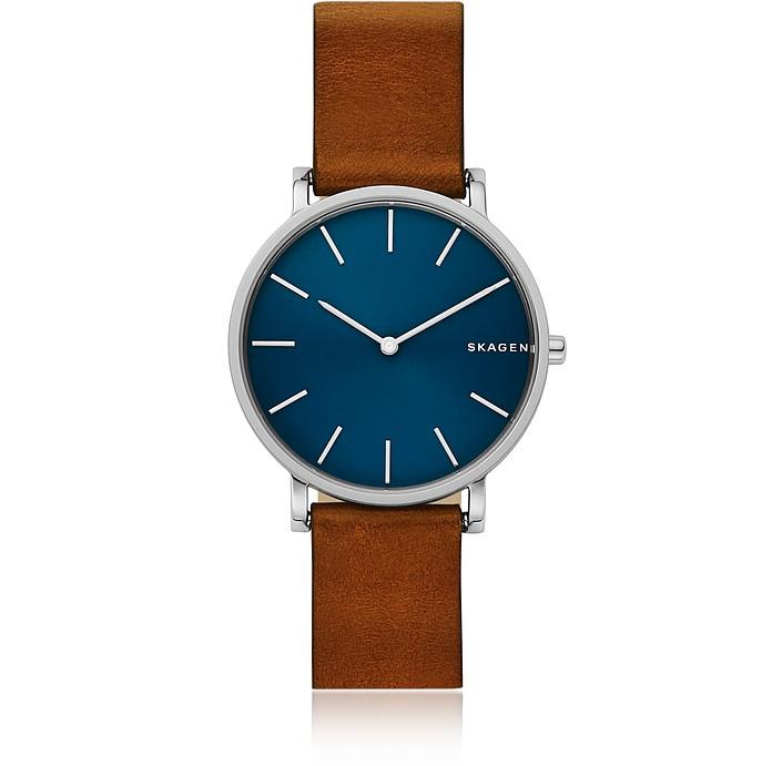 Hagen Slim Brown Leather Watch - Skagen