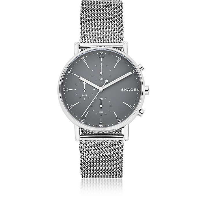 Signatur Steel Mesh Men's Chronograph Watch - Skagen
