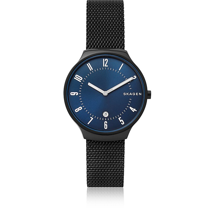 Grenen Black Steel Mesh Men's Watch - Skagen