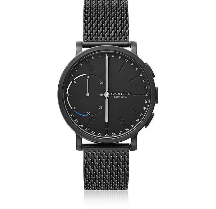 Hagen Hybrid Black Steel Mesh Men's Smartwatch - Skagen