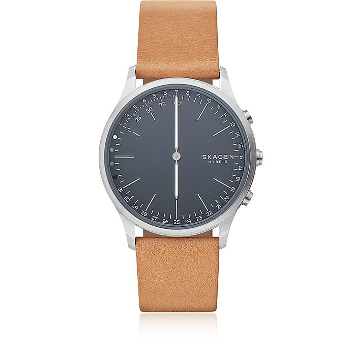 Jorn Hybrid Tan Leather Men's Smartwatch - Skagen