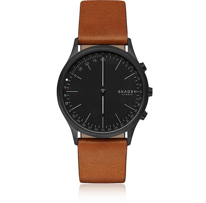 Jorn Hybrid Cognac Leather Men's Smartwatch - Skagen