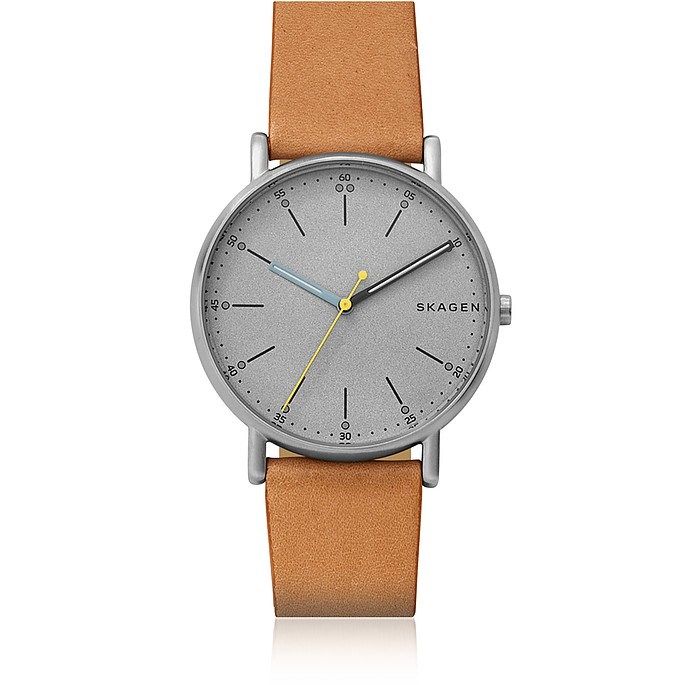 Signatur Tan Leather Watch - Skagen