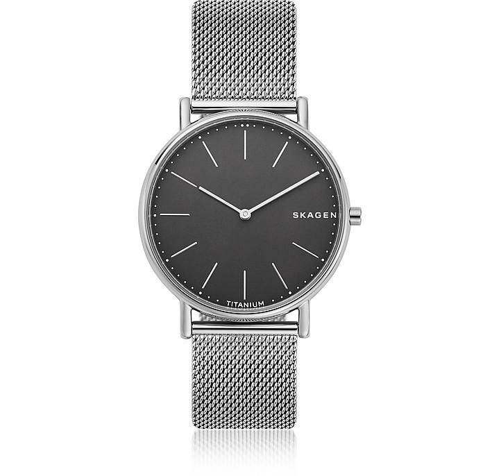 Signatur Slim Titanium Mesh Watch - Skagen