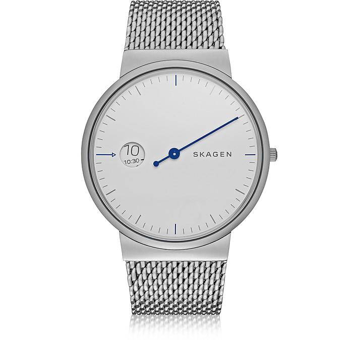 Ancher Mono Steel Men's Watch w/Mesh Band - Skagen