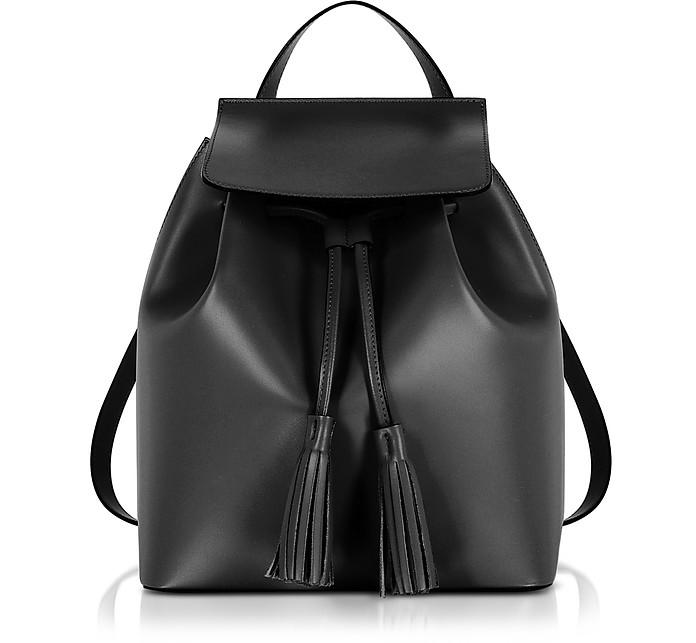 Genuine Leather Backpack w/Tassels - Gisèle 39