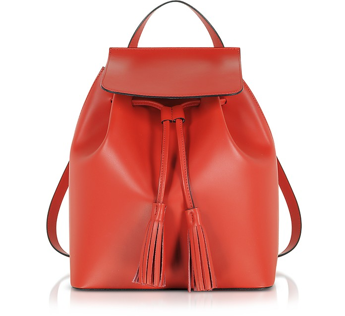 Genuine Leather Backpack w/Tassels - Gisèle 39