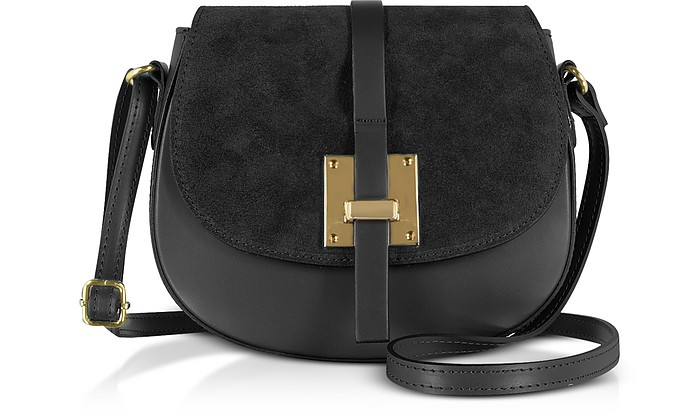 Pollia Leather and Suede Shoulder Bag - Gisèle 39