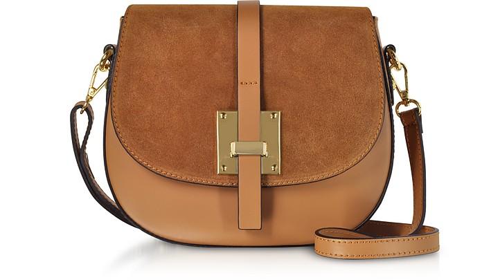 Pollia Leather and Suede Shoulder Bag - Gisèle 39