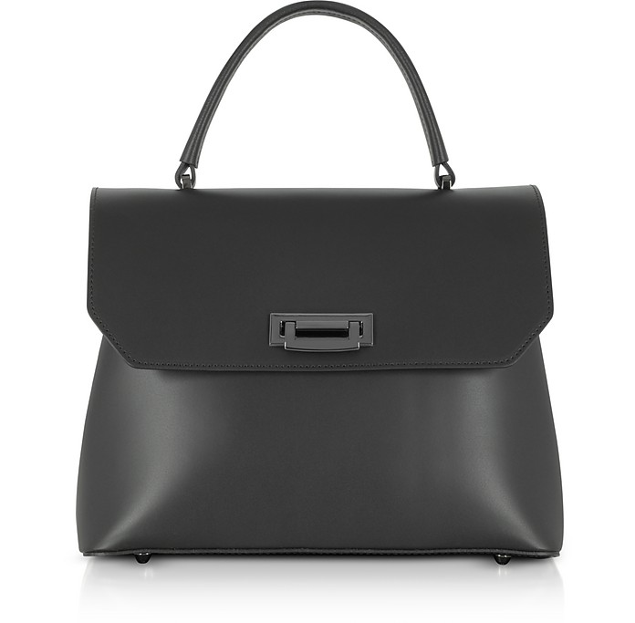 Lutece Medium Leather Top Handle Satchel Bag - Gisèle 39