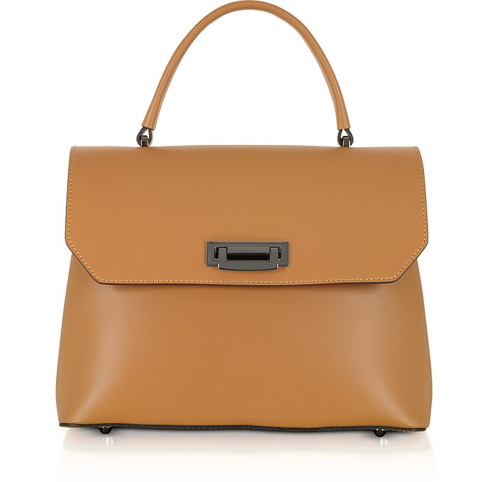 Lutece Medium Leather Top Handle Satchel Bag - Gisèle 39