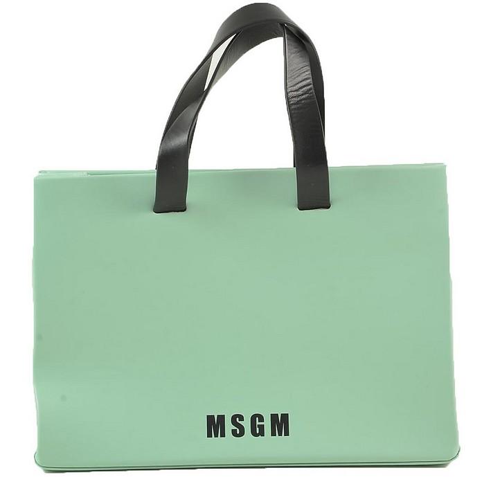 Women's Aqua Handbag - MSGM
