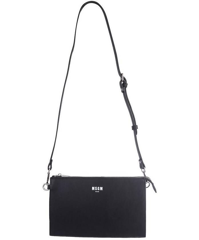 Black Signature Crossbody Bag - MSGM / エムエスジーエム