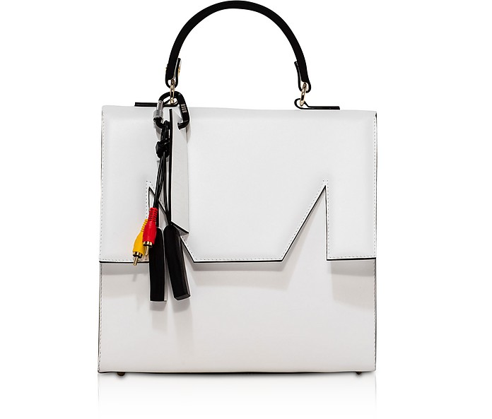 M Top Handle Large Satchel Bag - MSGM