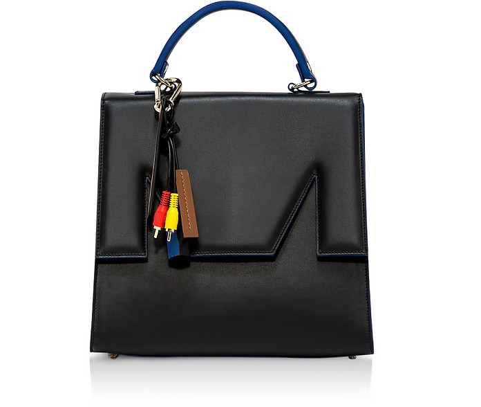M Top Handle Large Satchel Bag - MSGM