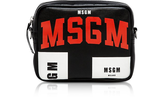 MSGM Signature Black Crossbody Bag - MSGM