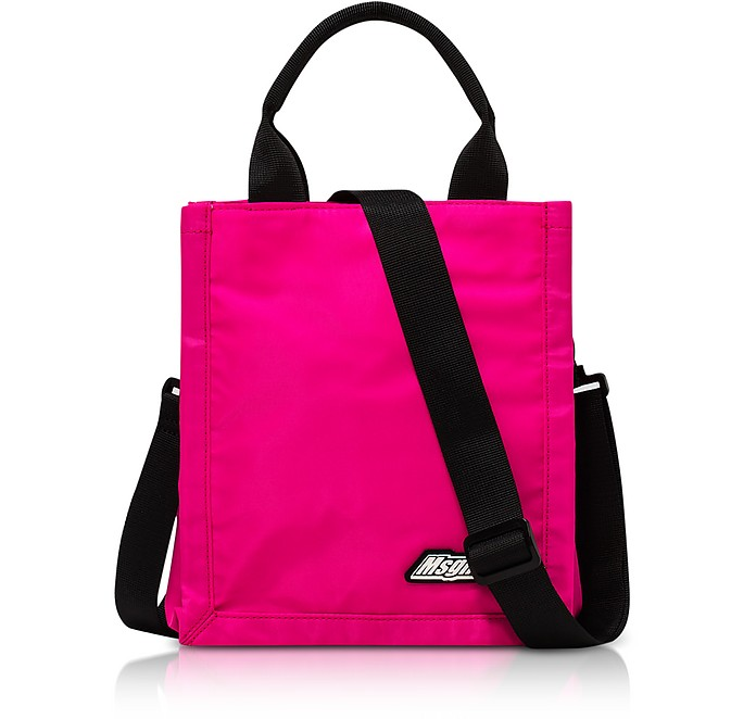 Fuchsia Mini MSGM Signature Shopping Bag - MSGM