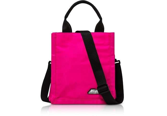 Mini MSGM Signature Tote Bag Fuschia - MSGM