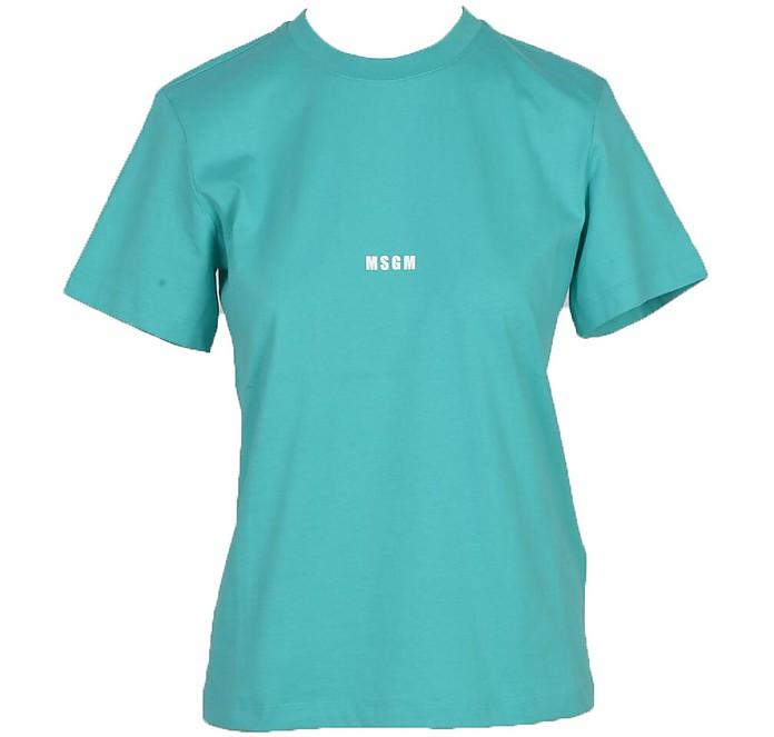 Women's Aqua T-Shirt - MSGM