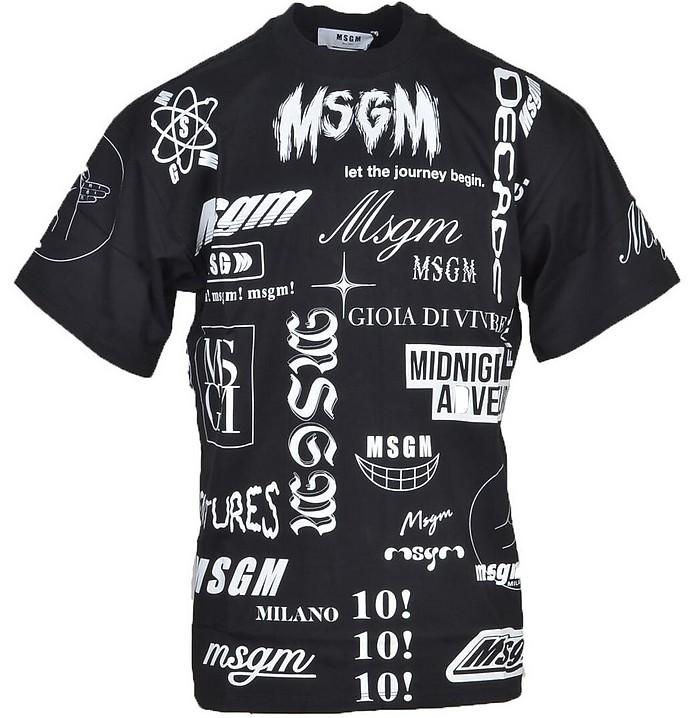 Men's Black T-Shirt - MSGM