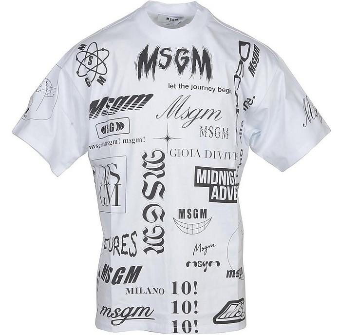 Men's White T-Shirt - MSGM