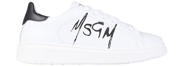 Sneakers With Logo - MSGM