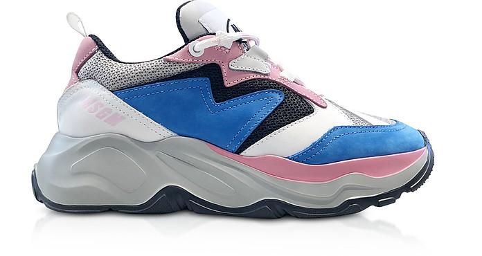 MSGM Light Blue Attack Sneakers - MSGM