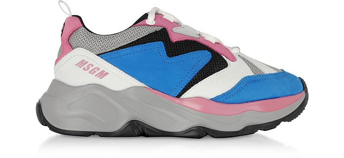 Attack Sneakers Color Block in Nylon e Mesh - MSGM