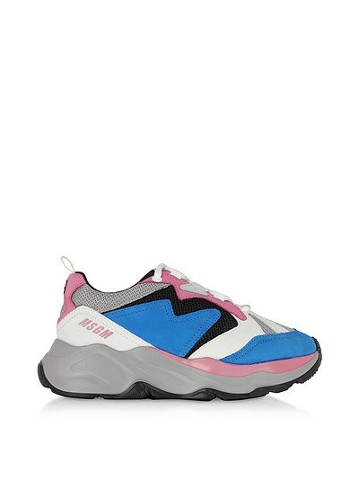 Light Blue Attack Sneakers - MSGM