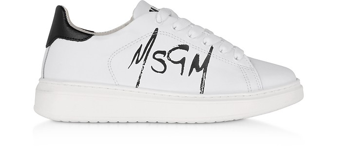 MSGM Sneakers Blanches avec Logo - MSGM