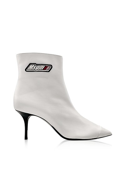 White MSGM Signature Ankle Boots - MSGM
