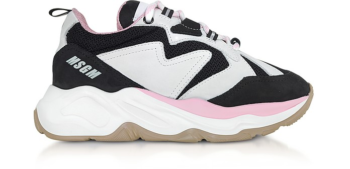 Black & Pink Attack Sneakers - MSGM