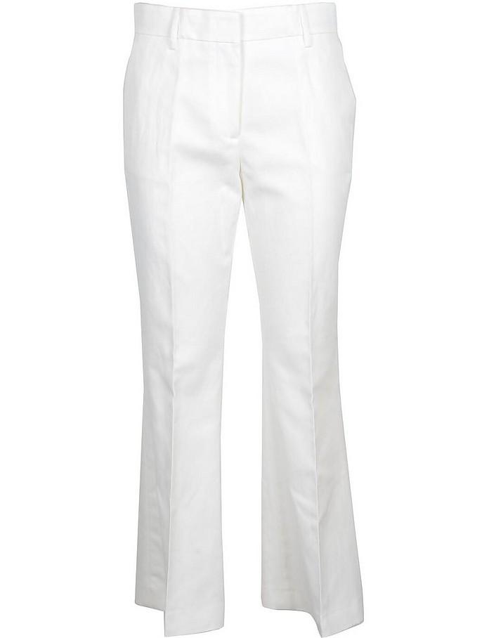 Women's White Pants - MSGM