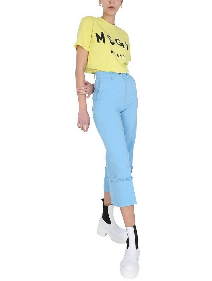 Cropped Fit Trousers - MSGM