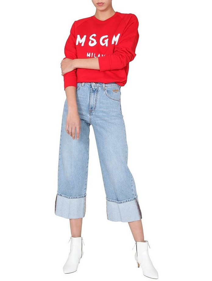 Cropped Flaire Jeans - MSGM