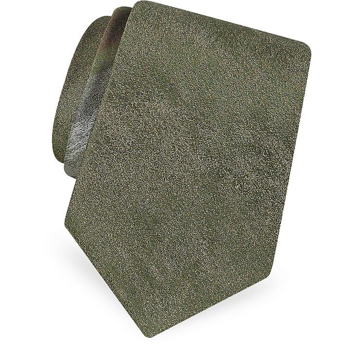 Striped Shimmering Woven Silk Tie - Gokan Kobo Touch
