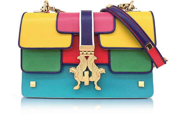 Summer P-Bag Color Block Leather Shoulder Bag - Giancarlo Petriglia