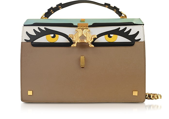 Peggy Eyes Multicolor Leather Bag - Giancarlo Petriglia