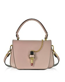 Powder Pink Leather Mini Queen Bag w/Lipstick - Giancarlo Petriglia