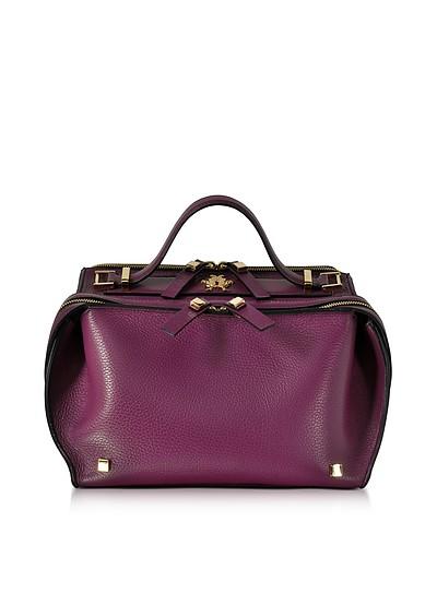 Purple Tumbled Leather Clari Bag w/Eye - Giancarlo Petriglia