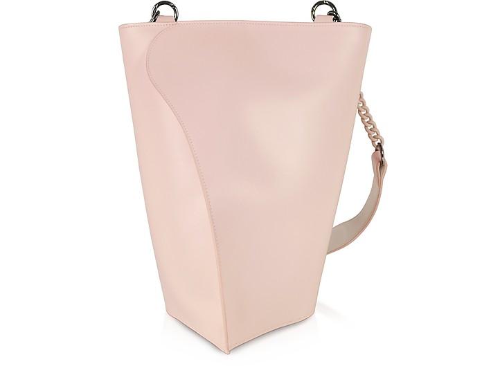 Pink Layla Leather Shoulder Bag - Giaquinto