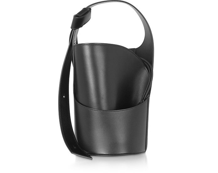 Lily Mini Black Bucket Bag - Giaquinto