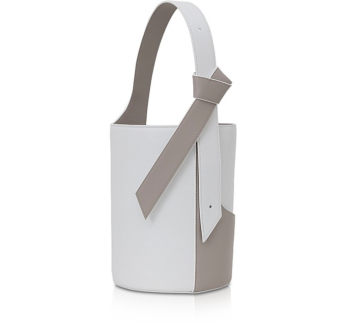 Lily Mini Egret White Bucket Bag - Giaquinto